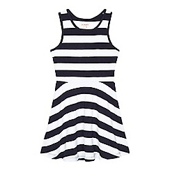 bluezoo - Girls' navy striped sleeveless dress