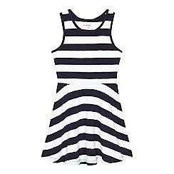 bluezoo - Girls' navy striped sleeveless dress