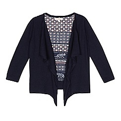 bluezoo - Girls' navy tiger print cardigan