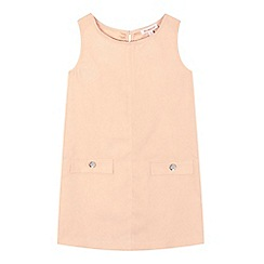 bluezoo - Girls' pale pink sleeveless suedette dress