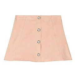 bluezoo - Girls' pale pink suedette skirt