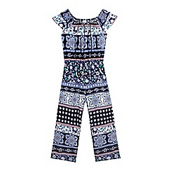 bluezoo - Girls' navy gypsy jumpsuit