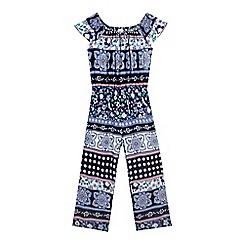 bluezoo - Girls' navy gypsy jumpsuit