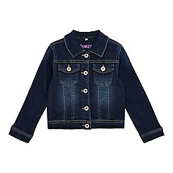 bluezoo - Girls' dark blue denim jacket