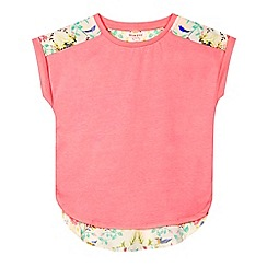 bluezoo - Girls' pink bird print back top
