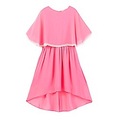 bluezoo - Girls' bright pink cape dress