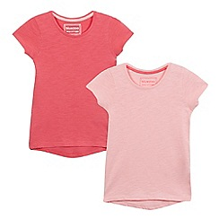 bluezoo - Pack of two girls' pink t-shirts