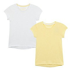 bluezoo - Pack of two girls' yellow t-shirts