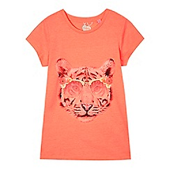 bluezoo - Girls' coral tiger t-shirt