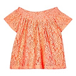 bluezoo - Girls' orange lace effect top