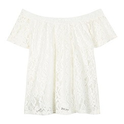 bluezoo - Girls' white lace gypsy top