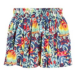 bluezoo - Girls' multi-coloured floral print skirt