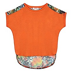 bluezoo - Girls' orange parrot print top
