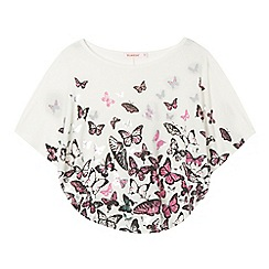 bluezoo - Girls' cream butterfly cape top
