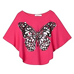 bluezoo - Girls' pink glitter cape top