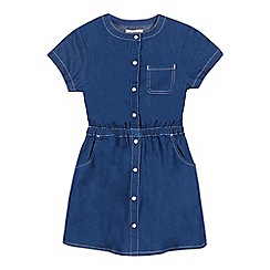 bluezoo - Girls' blue denim shirt dress