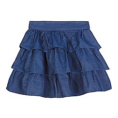bluezoo - Girls' blue denim rara skirt