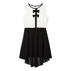 bluezoo - Girls' black lace bow dress