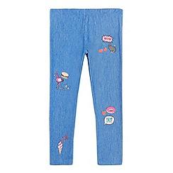 bluezoo - Girls' blue printed leggings