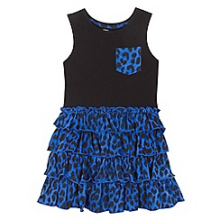 bluezoo - Girls' multi-coloured leopard print rara dress