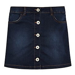 bluezoo - Girls' dark blue denim A-line skirt