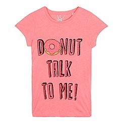 bluezoo - Girls' pink 'Donut talk to me' t-shirt