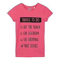 bluezoo - Girls' pink 'Things To Do' t-shirt