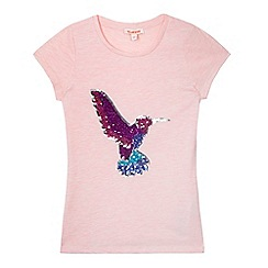 bluezoo - Girls' pink sequin embellished t-shirt