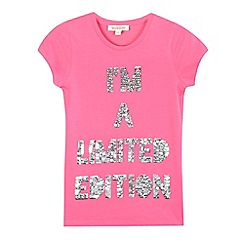 bluezoo - Girls' pink sequin detail top