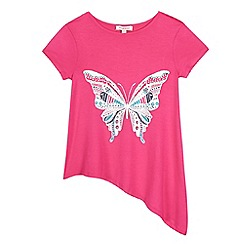 bluezoo - Girls  pink butterfly top