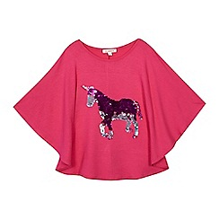 bluezoo - Girls' pink sequin batwing top