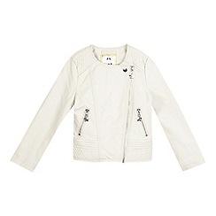 Star by Julien Macdonald - Girls' cream quilted biker jacket