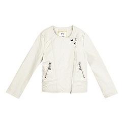 Star by Julien Macdonald - Girls' cream quilted biker jacket