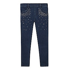 Star by Julien Macdonald - Girls' dark blue studded jeans