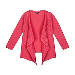 Star by Julien Macdonald - Girls' pink waterfall cardigan