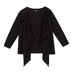 Star by Julien Macdonald - Girls' black gem waterfall cardigan