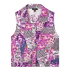 Star by Julien Macdonald - Girls' purple floral sleeveless shirt