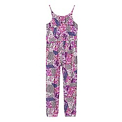 Star by Julien Macdonald - Girls' purple floral jumpsuit