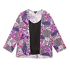 Star by Julien Macdonald - Girls' purple floral kimono and cami set