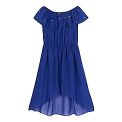Star by Julien Macdonald - Girls' blue gem gypsy dress