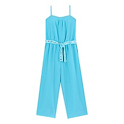 Star by Julien Macdonald - Girls' turquoise gem detail jumpsuit