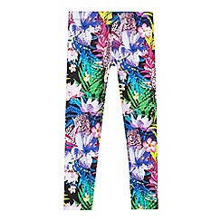 Star by Julien Macdonald - Girls' multicoloured tropical floral print leggings