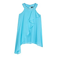 Star by Julien Macdonald - Girls' blue asymmetric frill top