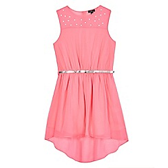 Star by Julien Macdonald - Girls' pink gem dress