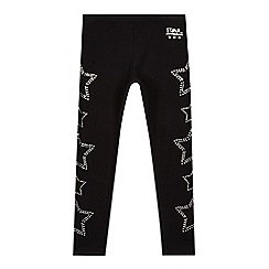 Star by Julien Macdonald - Girls' black diamante star leggings