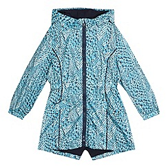 Pineapple - Girls' turquoise snakeskin-effect parka jacket