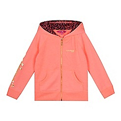 Pineapple - Girls' orange logo zip through hoodie