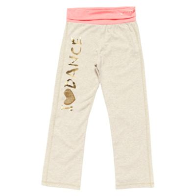 Girls Cream Dance Jogging Bottoms