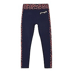 Pineapple - Girls' navy leopard print leggings
