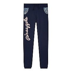 Pineapple - Girls' navy snake print joggers